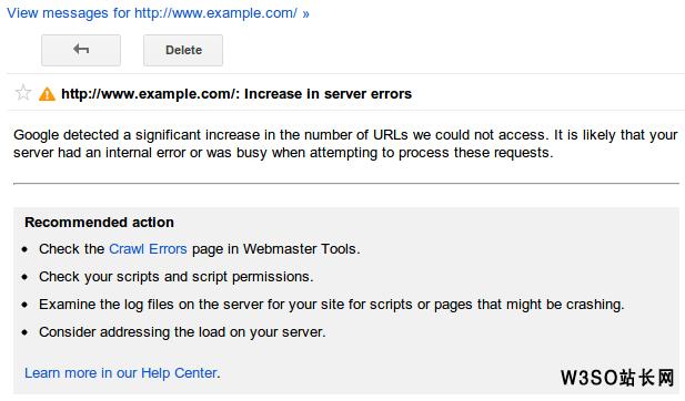 Google网站管理员工具推出新的抓取错误提示